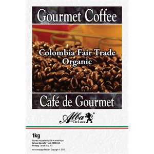 De Luca's Colombia Fair Trade Organic 1kg