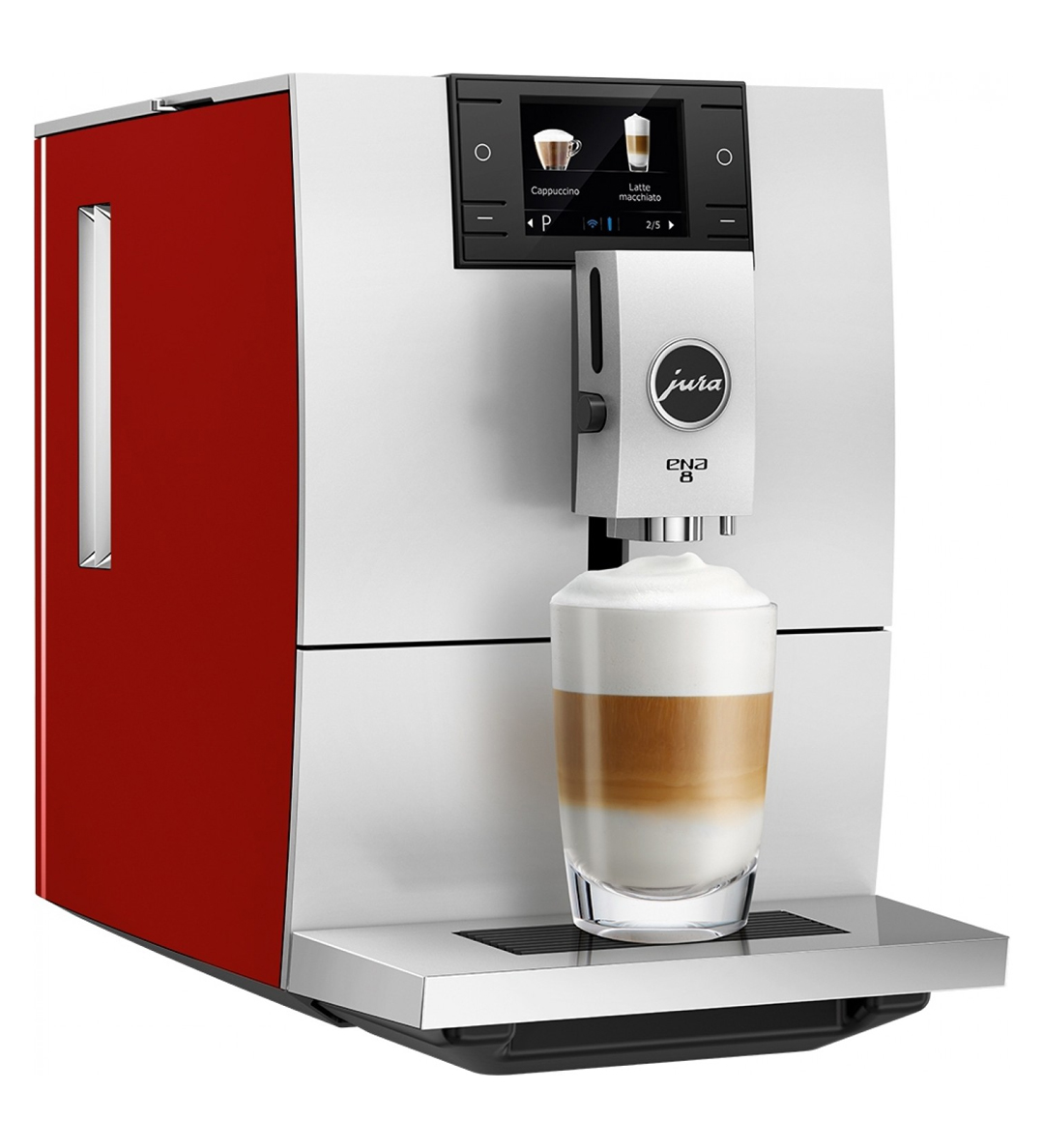 Jura Ena 8 Automatic Espresso Machine Sunset Red 15282
